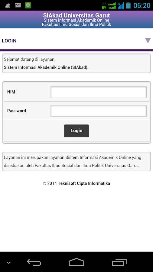 SIAkad Farmasi Uniga- screenshot