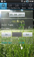 Screenshot of LetMeGoHome Full: a work clock