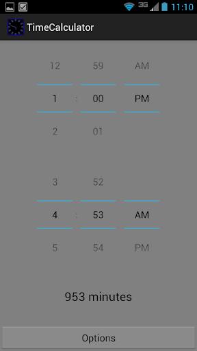 Компьютер вычисляет интервал времени между двумя датами в годы, дни, часы и минуты.