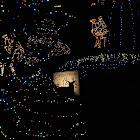 Deer among Christmas lights