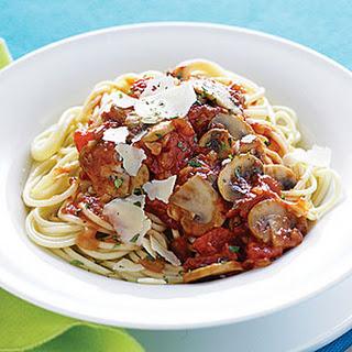 Mushroom-Herb Spaghetti