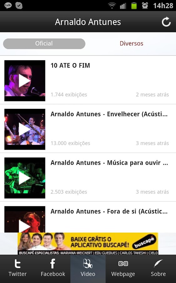 Arnaldo Antunes Noticias - screenshot