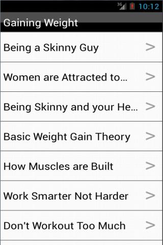 Gaining Weight - Bodybuilding