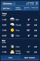 Screenshot of Inforama Meteo Moldova