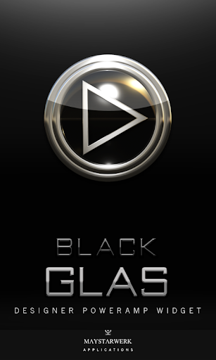 Poweramp Widget Black Glas