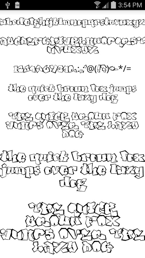 Fonts for FlipFont Tattoo - screenshot
