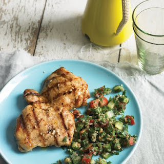 Grilled Lemon Chicken with Tabbouleh.