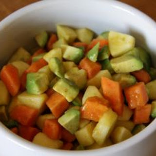 LouLou's Curry, Avocado, Apple, and Papaya Starter