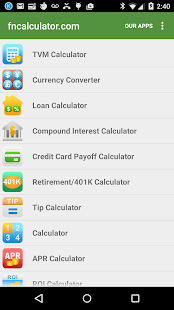 Financial Calculators- screenshot thumbnail