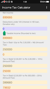 Income Tax Calculator screenshot