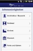 Screenshot of Rügen-App