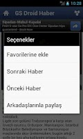 Screenshot of GS Droid Haber (Galatasaray)