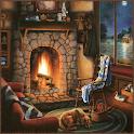 Log Cabin Night Live Wallpaper