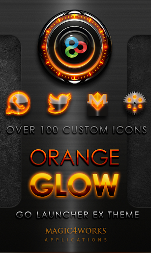 GO Launcher Theme Orange Glow