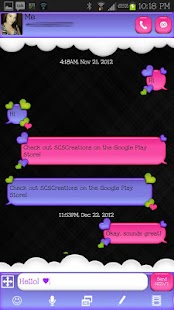 GO SMS - Loving Hearts 5 - screenshot thumbnail