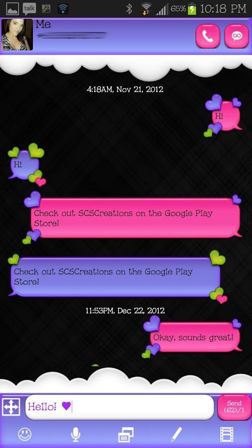 GO SMS - Loving Hearts 5 - screenshot