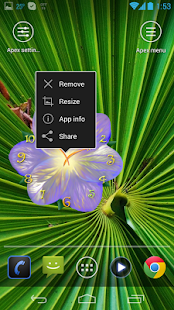 Serene flower clock HD widget- screenshot thumbnail