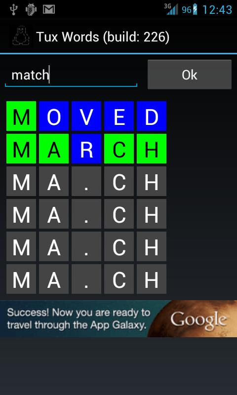 Tux Words (Lingo)- screenshot