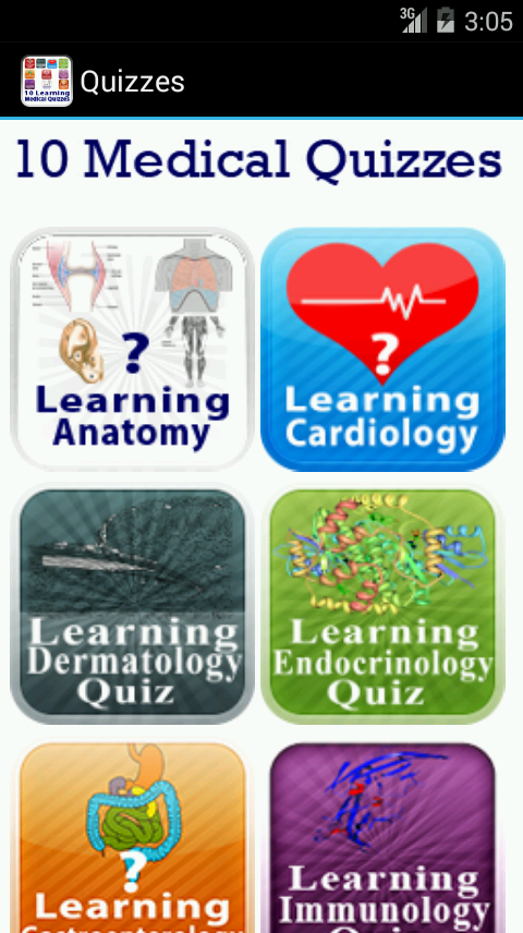 10 Learning Medical Quizzes- screenshot