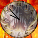 Fire Skull Analog Clocks