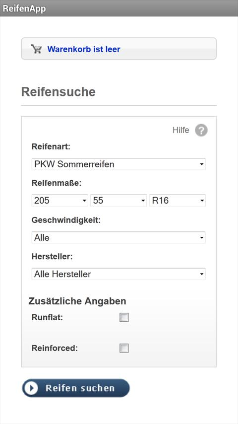 Tires - Reifen - (ReifenApp)- screenshot