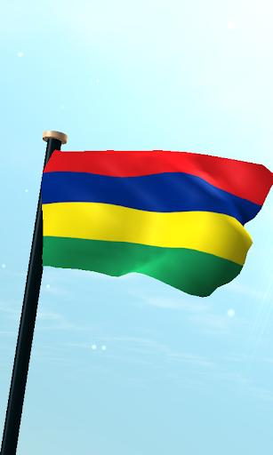 毛里求斯旗3D動態桌布