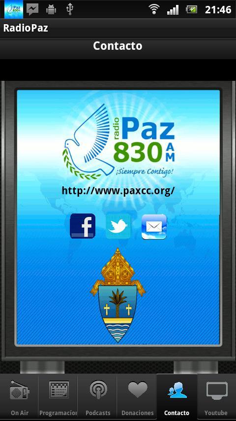 RADIO PAZ 830 AM: captura de pantalla
