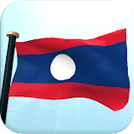 Laos Flag 3D Free Wallpaper