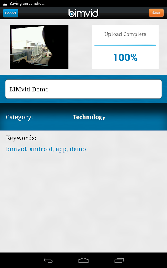 BIMvid - screenshot