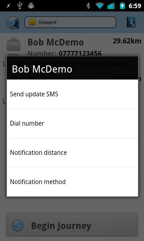 Nearly There SMS- screenshot