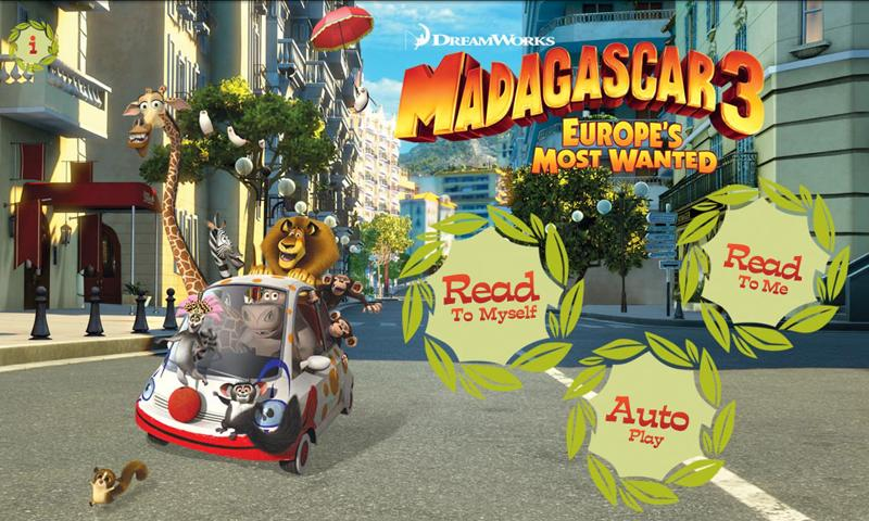 Madagascar 3 Movie Storybook Android Apps on Google Play
