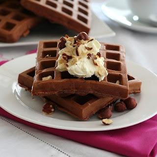 Chocolate Hazelnut Protein Waffles – Low Carb and Gluten-Free.
