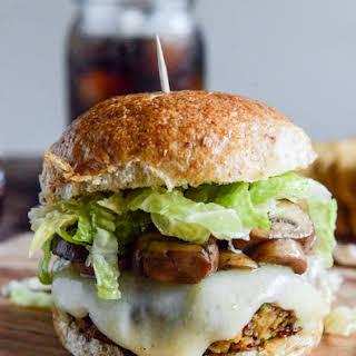 Crispy Autumn Veg Burgers with Apple Cider Slaw.