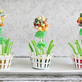 Trix Spring Flowers Cupcakes.