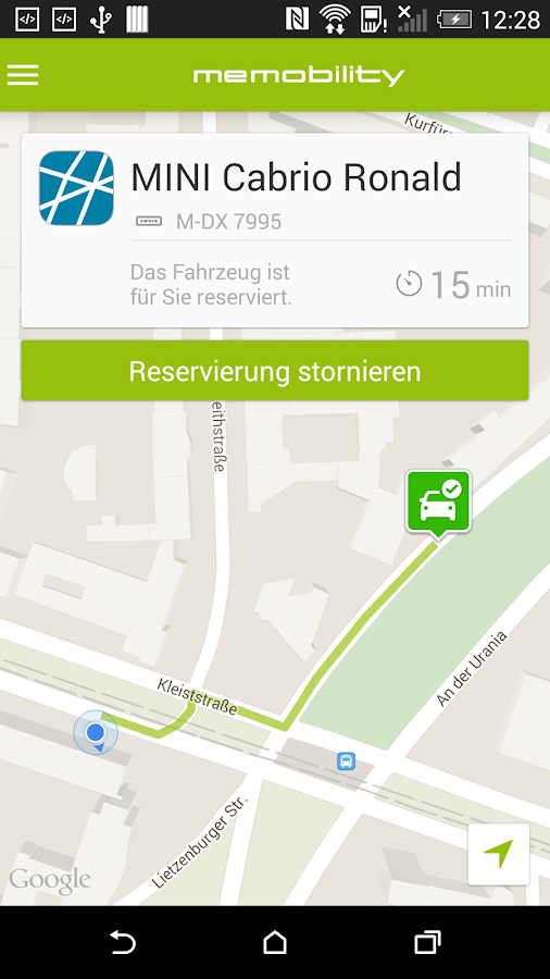 MeMobility - Carsharing- screenshot