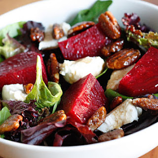 Roasted Beet and Goat Cheese Salad.