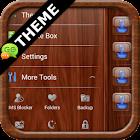 Mahogany Wood GO SMS Theme icon