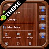 Mahogany Wood GO SMS Theme