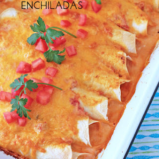 Cream Cheese Chicken Enchiladas
