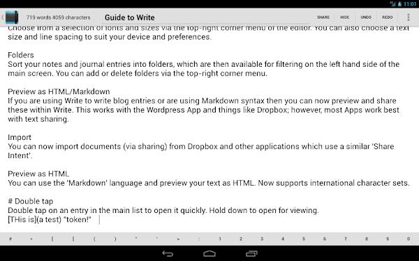 Write: Tablet Notepad/Journal- screenshot thumbnail