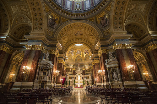 St Peter's Basilica by Mark Richardson - Buildings & Architecture Places of Worship ( interior, building, budapest, church, worship, basilica, Architecture, Ceilings, Ceiling, Buildings, Building )