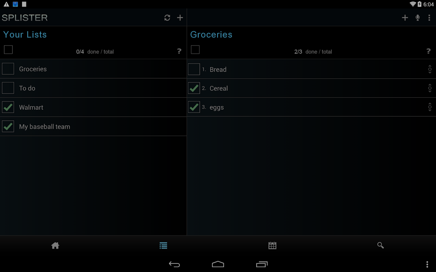 SPLISTER Voice Task & Calendar- screenshot