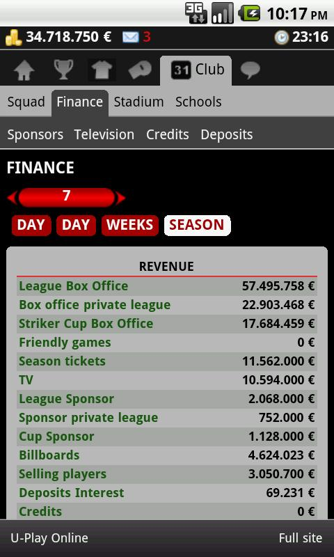 Striker Manager (soccer) - screenshot