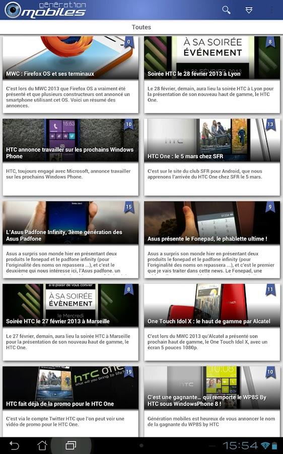 Génération mobiles- screenshot