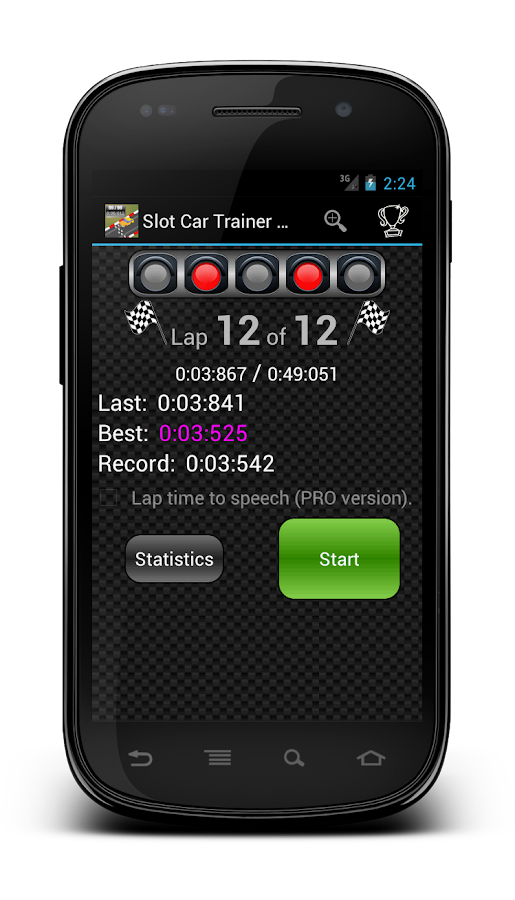 Slot Car Trainer Free - screenshot