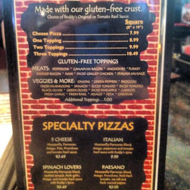 Be sure to get the GF menu