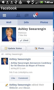 Ashley Swearengin for Mayor- screenshot thumbnail