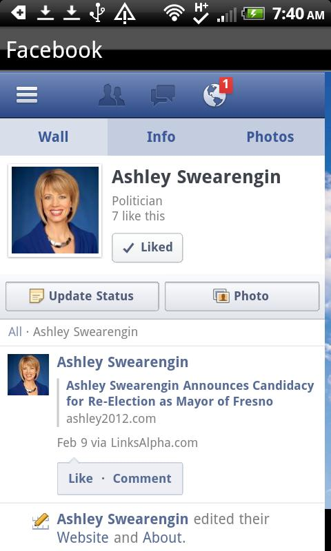 Ashley Swearengin for Mayor- screenshot