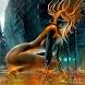 Girl On Fire 2 Live Wallpaper