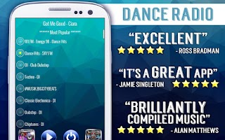 Screenshot of Free Dance Radio